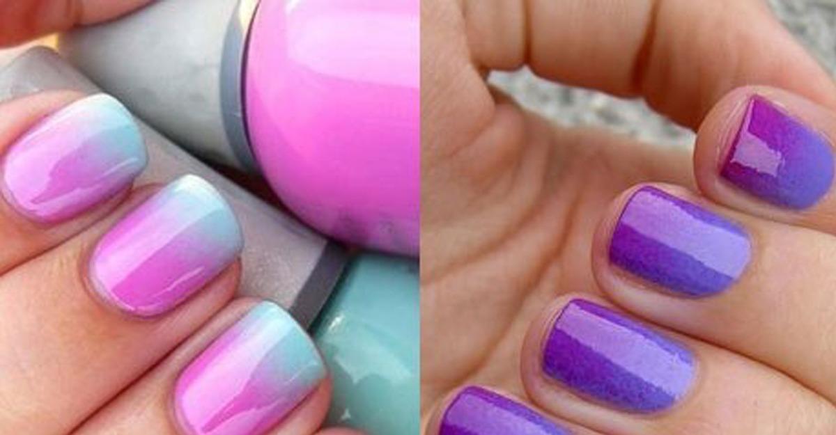 Как сделать переход цветов маникюр